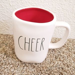 Rae Dunn Cheer Green Red Christmas mug